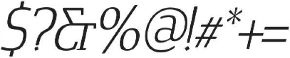 Cavole Slab Light Italic otf (300) Font OTHER CHARS