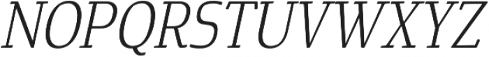 Cavole Slab Light Italic otf (300) Font UPPERCASE