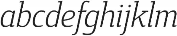 Cavole Slab Light Italic otf (300) Font LOWERCASE