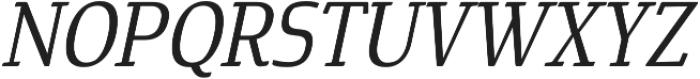 Cavole Slab Medium Italic otf (500) Font UPPERCASE