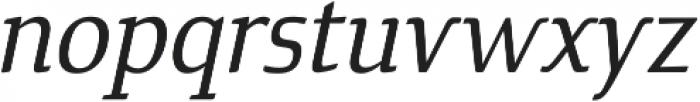 Cavole Slab Medium Italic otf (500) Font LOWERCASE