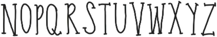 carrots ttf (400) Font LOWERCASE