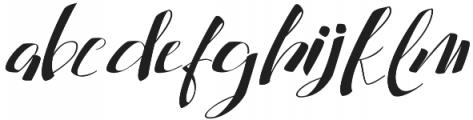 cataleya otf (400) Font LOWERCASE