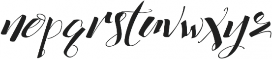 cataleya ttf (400) Font LOWERCASE