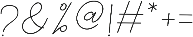 catherine Regular otf (400) Font OTHER CHARS