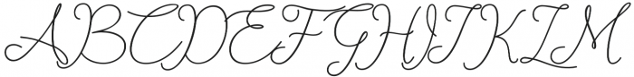 catherine Regular otf (400) Font UPPERCASE