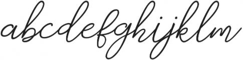 catherine Regular otf (400) Font LOWERCASE