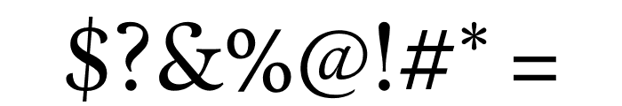 Calendas Plus Regular Font OTHER CHARS