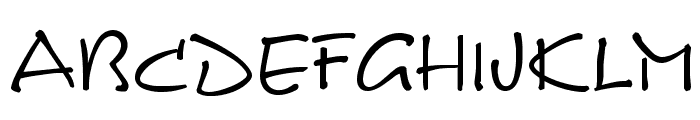 Calvin Regular Font UPPERCASE