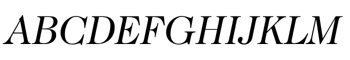Caslon-BookItalic Font UPPERCASE