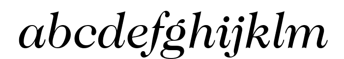 Caslon-BookItalic Font LOWERCASE