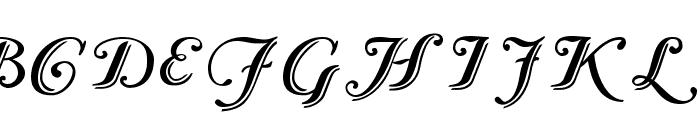 Caslon Calligraphic Initials Font UPPERCASE