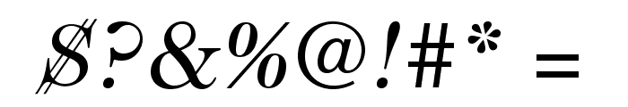 Caslon224Std-BookItalic Font OTHER CHARS