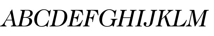 Caslon224Std-BookItalic Font UPPERCASE