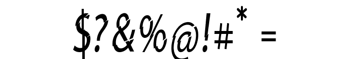 Category5-CondensedRegular Font OTHER CHARS