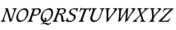 CaxtonStd-BookItalic Font UPPERCASE