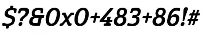 Cabrito Semi Condensed Bold Italic Font OTHER CHARS