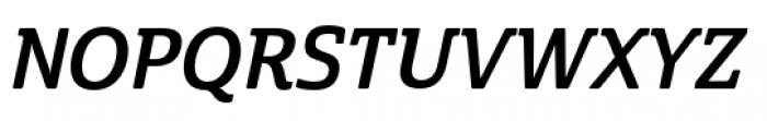 Cabrito Semi Condensed Bold Italic Font UPPERCASE