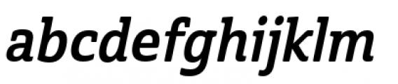 Cabrito Semi Condensed Bold Italic Font LOWERCASE