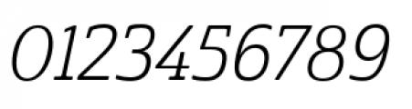 Cabrito Semi Condensed Book Italic Font OTHER CHARS