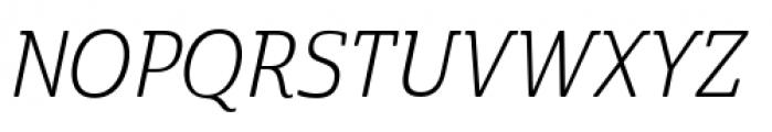 Cabrito Semi Condensed Book Italic Font UPPERCASE