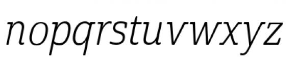 Cabrito Semi Condensed Book Italic Font LOWERCASE