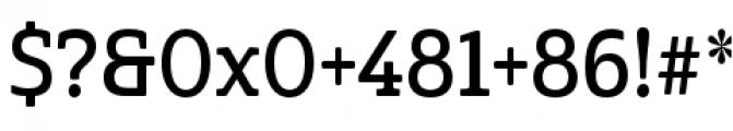 Cabrito Semi Condensed Demi Font OTHER CHARS