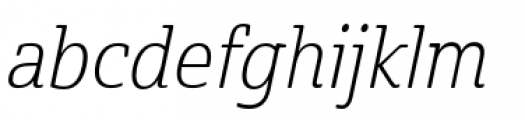 Cabrito Semi Condensed Light Italic Font LOWERCASE