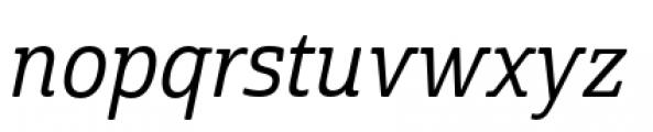 Cabrito Semi Condensed Medium Italic Font LOWERCASE