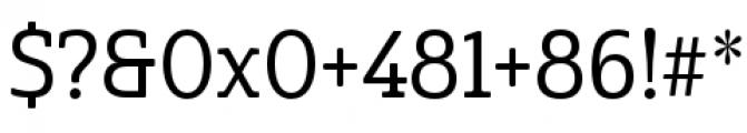 Cabrito Semi Condensed Medium Font OTHER CHARS