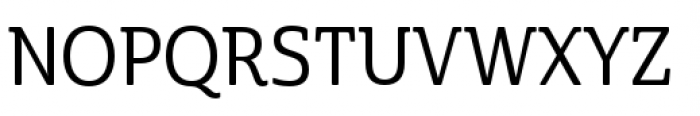 Cabrito Semi Condensed Medium Font UPPERCASE
