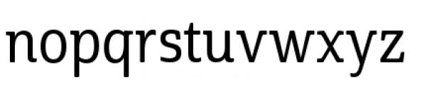 Cabrito Semi Condensed Medium Font LOWERCASE