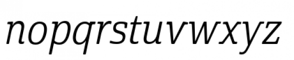 Cabrito Semi Condensed Regular Italic Font LOWERCASE