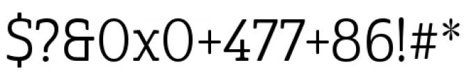 Cabrito Semi Condensed Regular Font OTHER CHARS