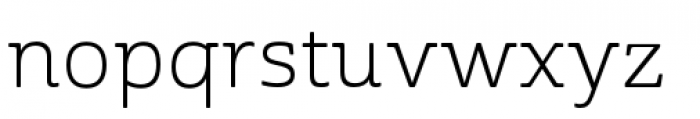 Cabrito Semi Extended Book Font LOWERCASE