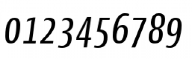Cantiga Condensed Normal Italic Font OTHER CHARS