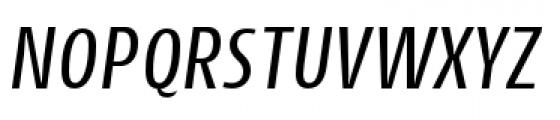 Cantiga Condensed Normal Italic Font UPPERCASE