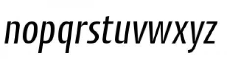 Cantiga Condensed Normal Italic Font LOWERCASE