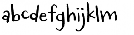 Carrotflower Font LOWERCASE