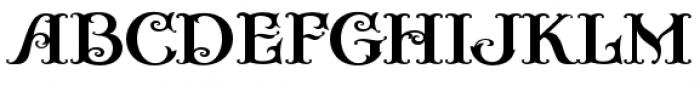 Casino Fancy Font UPPERCASE