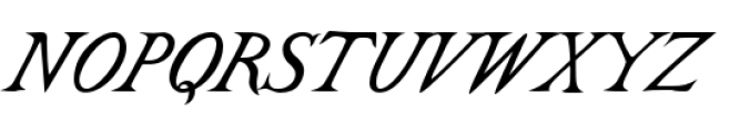 Castine Italic Font UPPERCASE