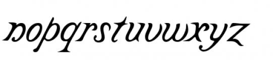 Castine Italic Font LOWERCASE