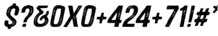 Castor One Oblique Font OTHER CHARS