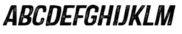 Castor One Oblique Font UPPERCASE