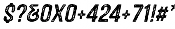 Castor Two Oblique Font OTHER CHARS