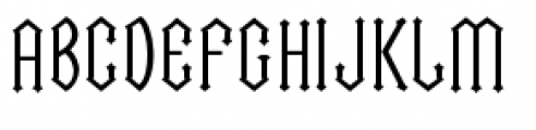 Cathedral Font UPPERCASE