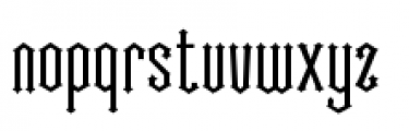 Cathedral Font LOWERCASE