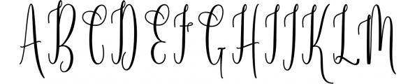 Calligraphy Font Bundles 12 Font UPPERCASE