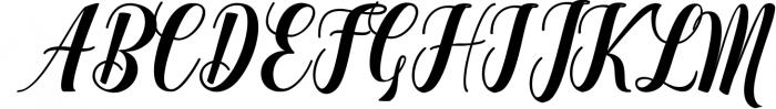 Calligraphy Font Bundles 9 Font UPPERCASE