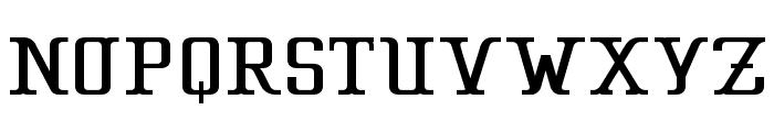 CA Strongman Font UPPERCASE